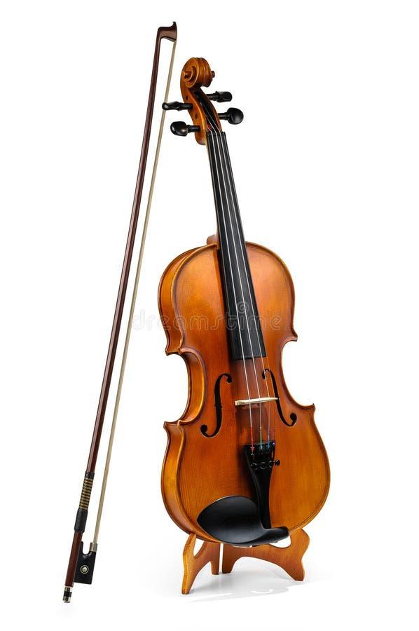 小提琴和无意识而不停地拨弄棍子 图库摄影
