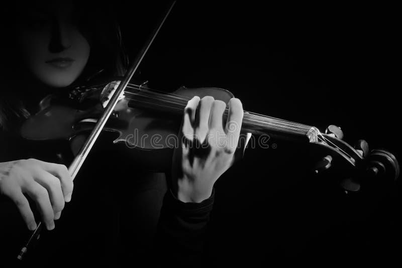 小提琴弹小提琴的球员小提琴手 库存图片