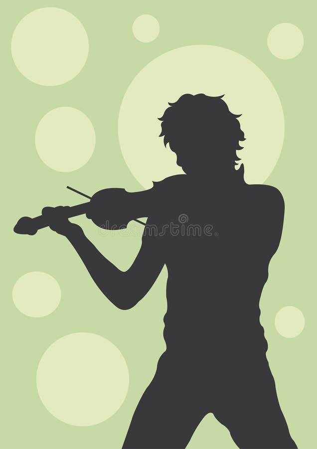 小提琴手 库存例证