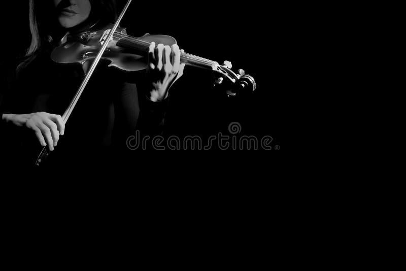 小提琴球员小提琴手使用 库存图片