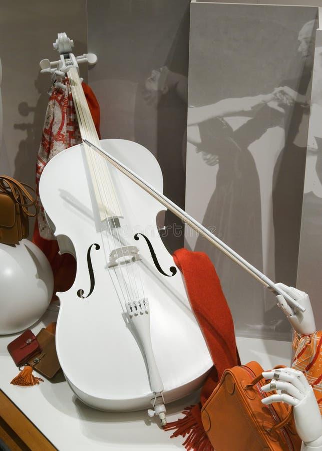 小提琴白色 免版税库存照片