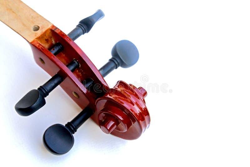 小提琴的顶头零件 库存图片
