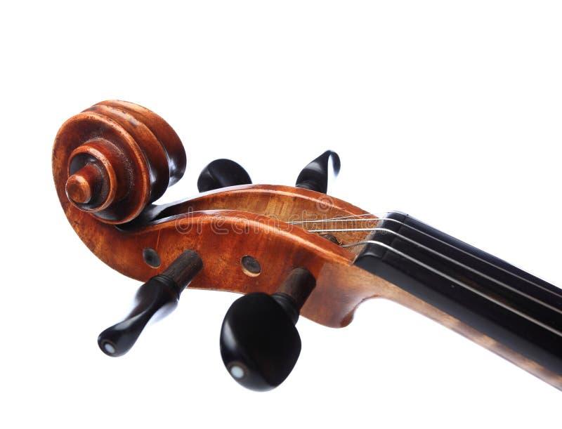 小提琴题头 免版税图库摄影