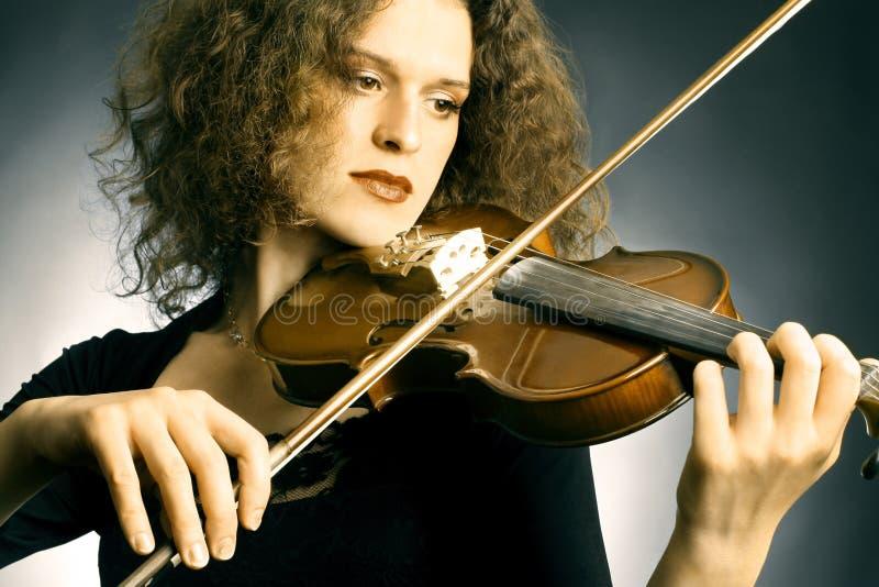 小提琴乐队球员 库存图片