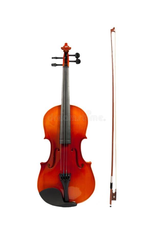 小提琴和无意识而不停地拨弄棍子隔绝与裁减路线 免版税库存图片
