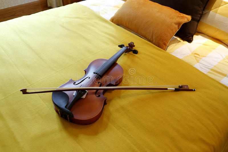 小提琴床 库存照片