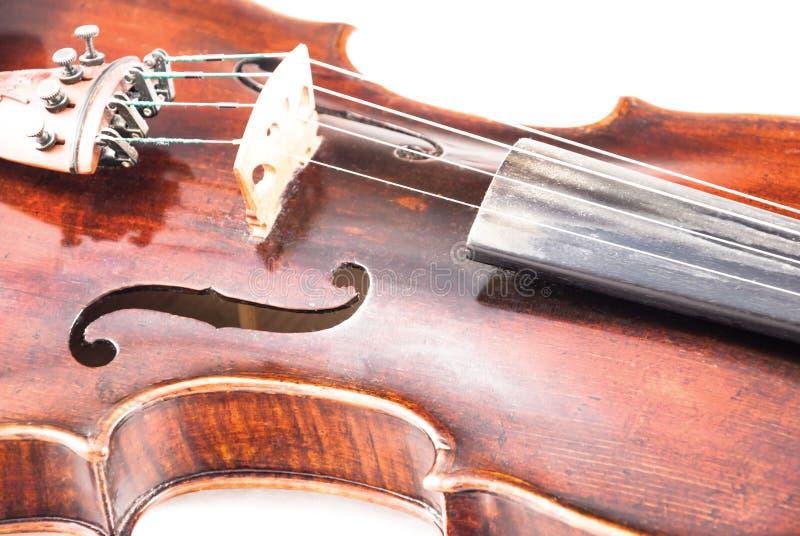 小提琴或无意识而不停地拨弄从前方 免版税库存照片