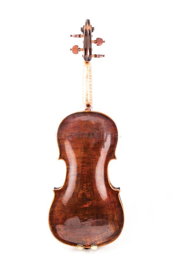 小提琴或无意识而不停地拨弄从后部 免版税图库摄影