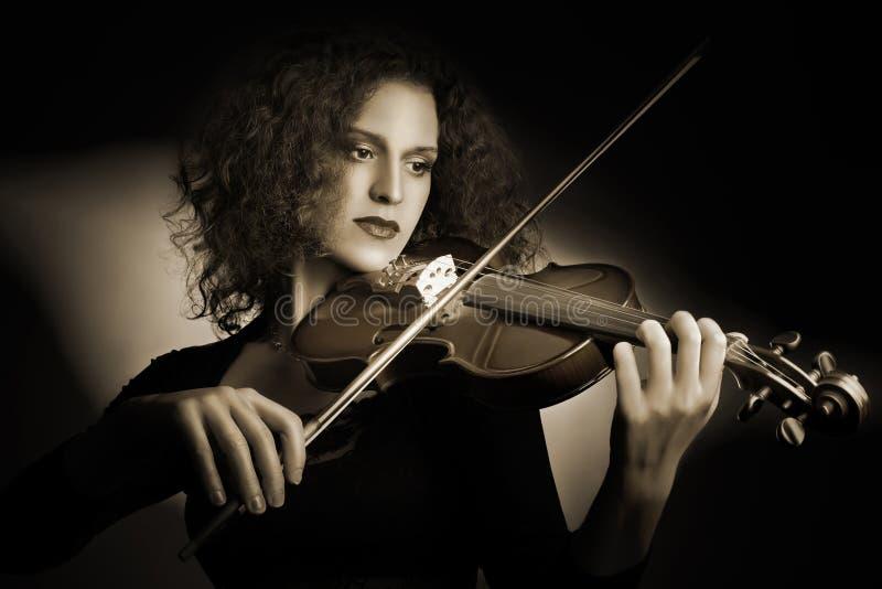 小提琴球员小提琴手 图库摄影