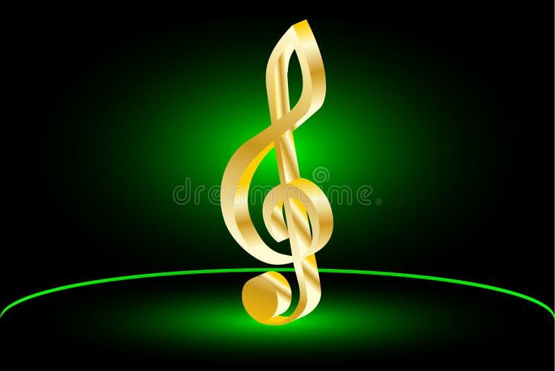 小提琴钥匙,音乐谱号, 皇族释放例证