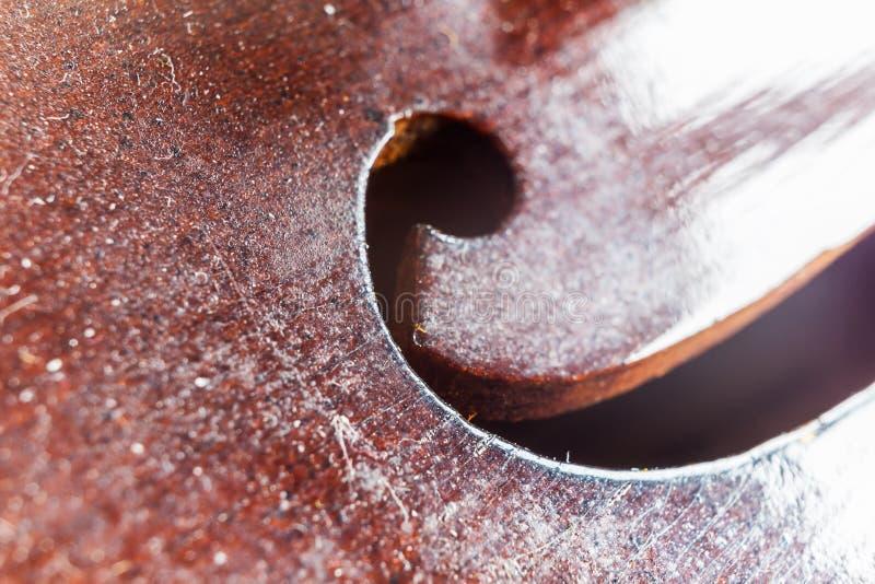 小提琴F孔 免版税库存图片