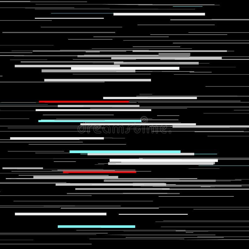 小故障元素集 屏幕错误模板 数字式映象点噪声摘要设计 电子游戏小故障 小故障 向量例证