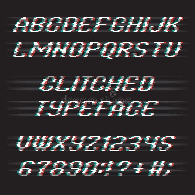 小故障字体集合 皇族释放例证