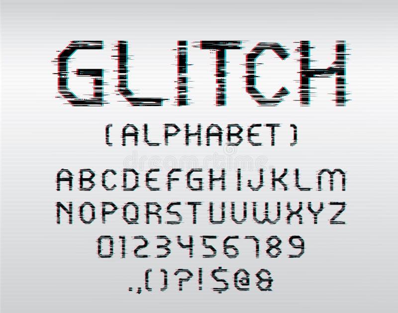 小故障字体 向量例证