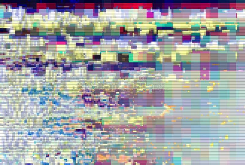小故障映象点数字样式噪声,人工制品 皇族释放例证