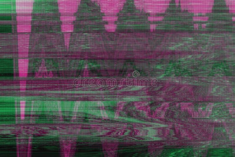小故障vhs背景人工制品噪声,难看的东西 皇族释放例证