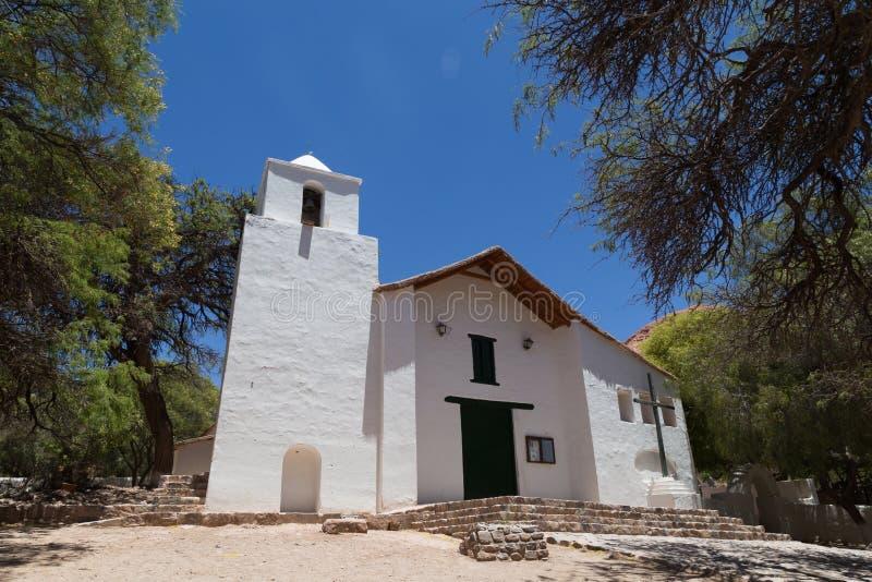 小教会在Purmamarca,阿根廷 库存图片