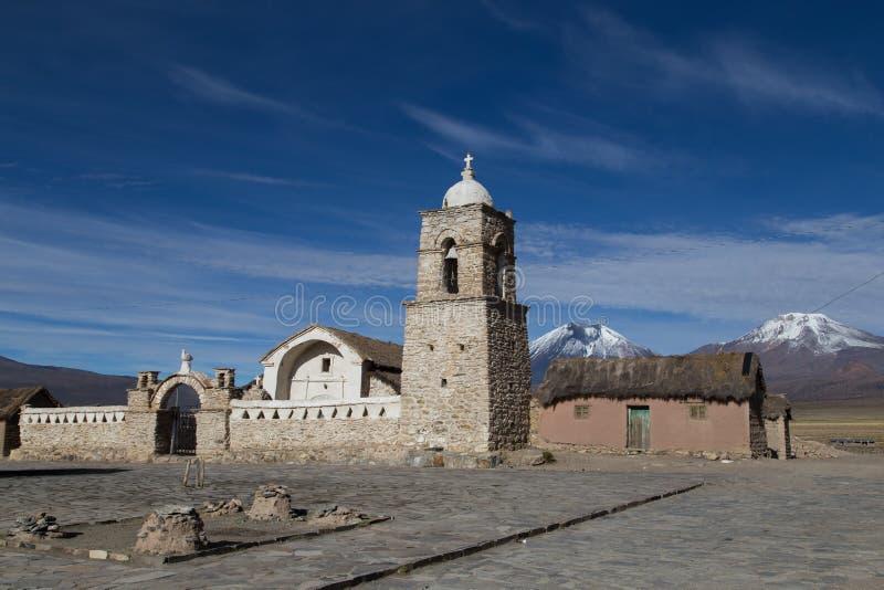 小教会萨哈马国家公园,玻利维亚 免版税库存照片