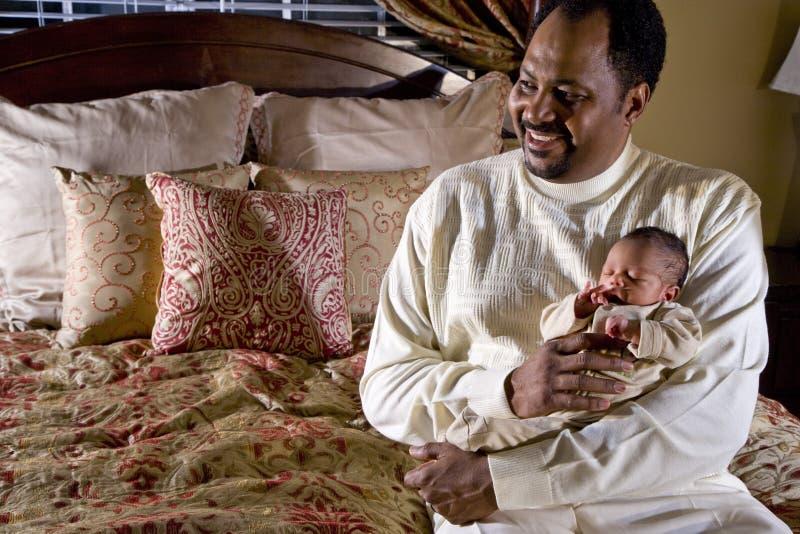 小新出生父亲的藏品 免版税库存图片