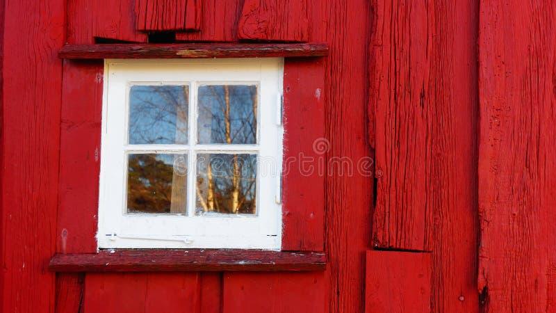 小方形的白色窗口木头 免版税图库摄影