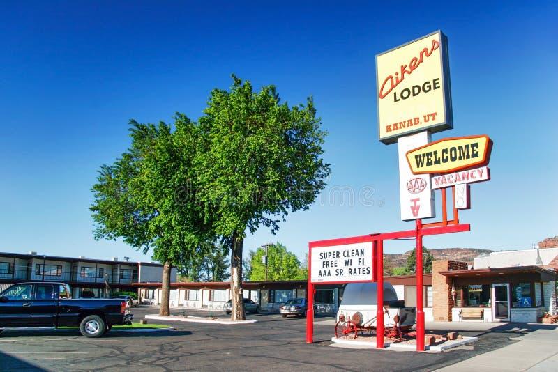 小旅馆在Kanab镇 免版税库存照片