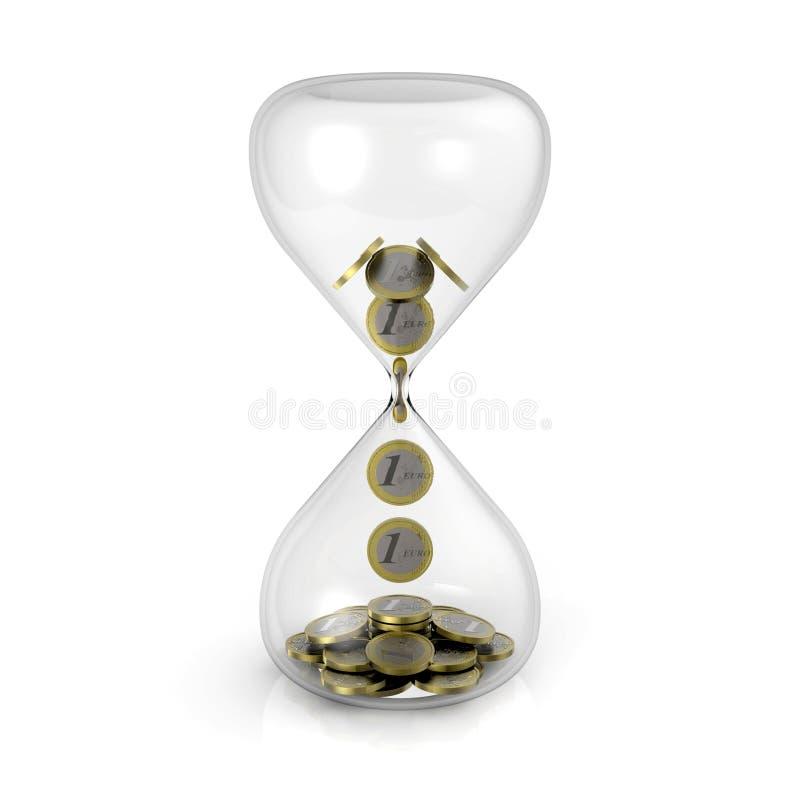 小时玻璃 向量例证