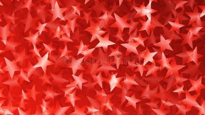 小星红色抽象背景  向量例证