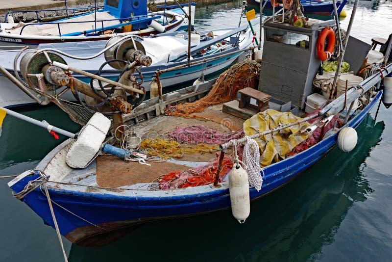 小木土耳其的轻巧小舟, Thassos,希腊 免版税图库摄影