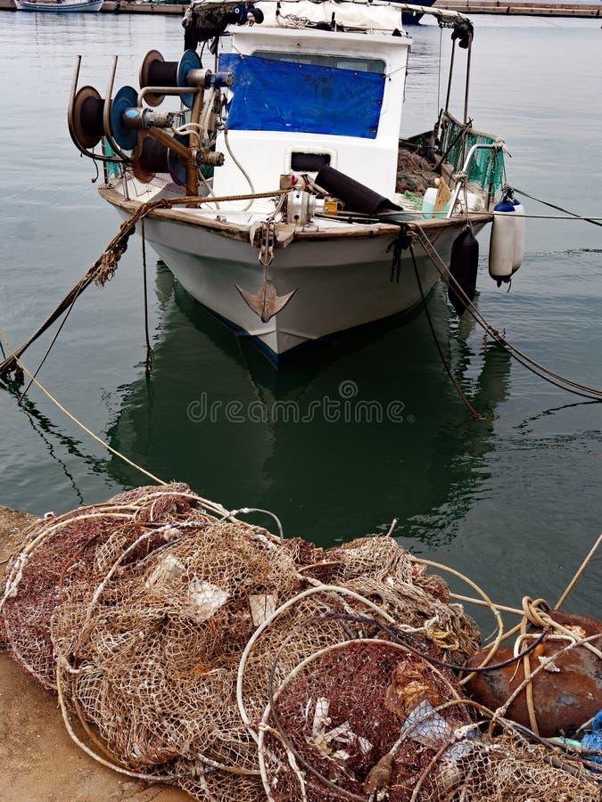 小木土耳其的轻巧小舟, Thassos,希腊 库存图片