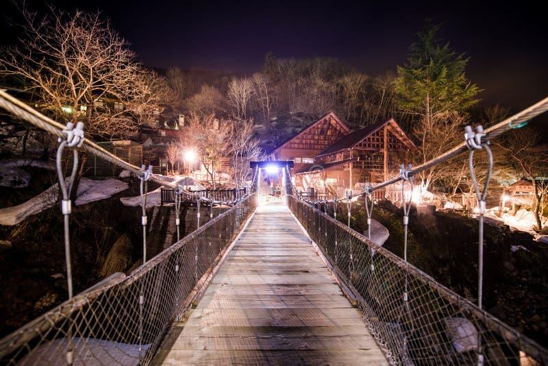 小木桥梁 免版税库存照片