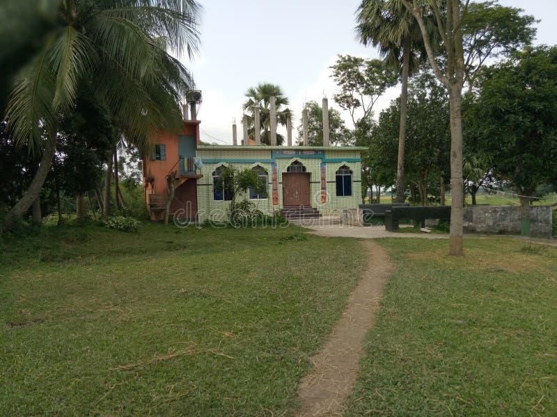 小村庄人民的小清真寺 库存图片