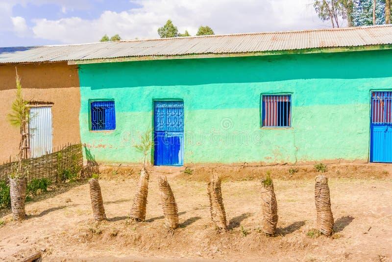 小村庄在埃塞俄比亚 免版税图库摄影
