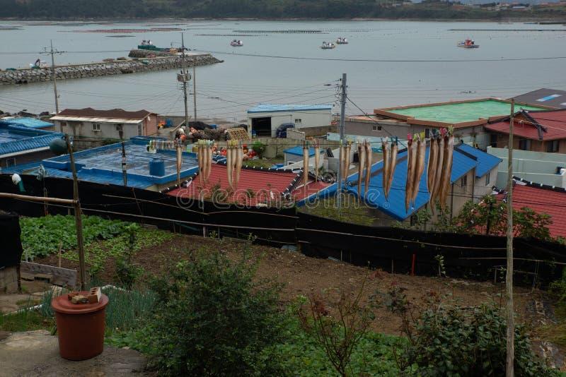 小村庄在韩国 库存图片