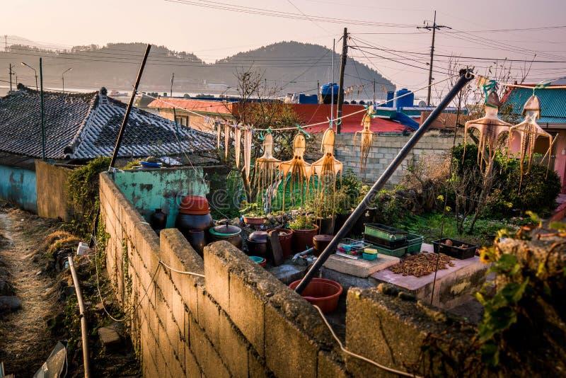 小村庄在韩国 免版税库存图片