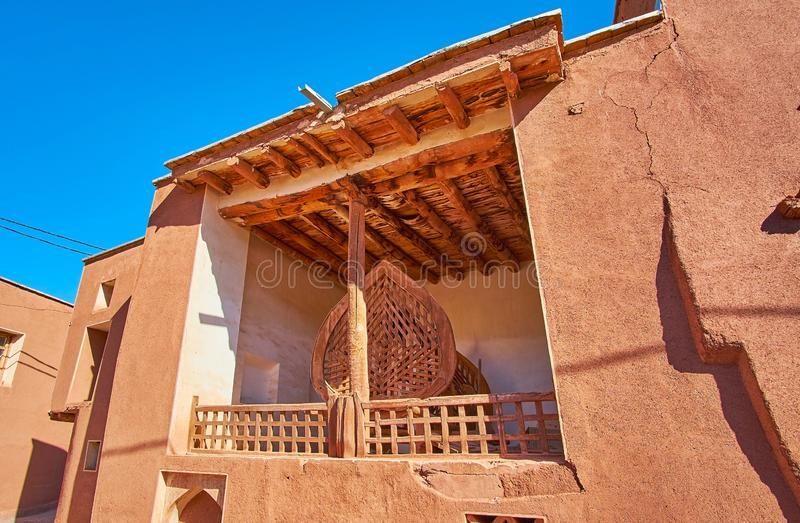 小村庄清真寺,阿卜亚内赫,伊朗门户  库存图片