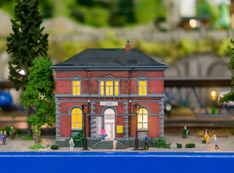 小模式大厦 免版税库存图片