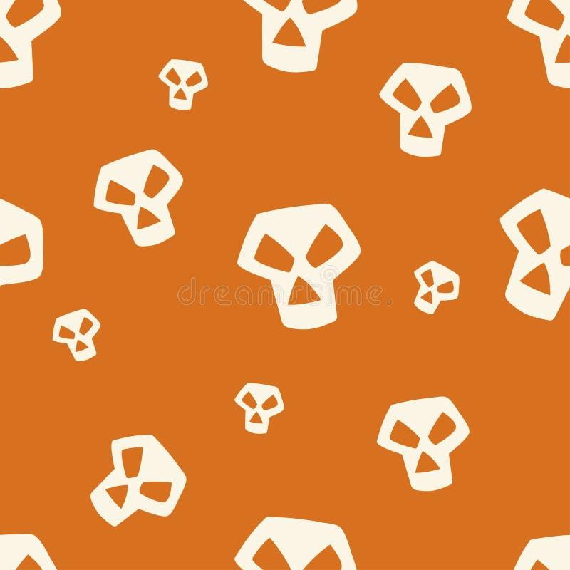 小橙色头骨的样式 皇族释放例证