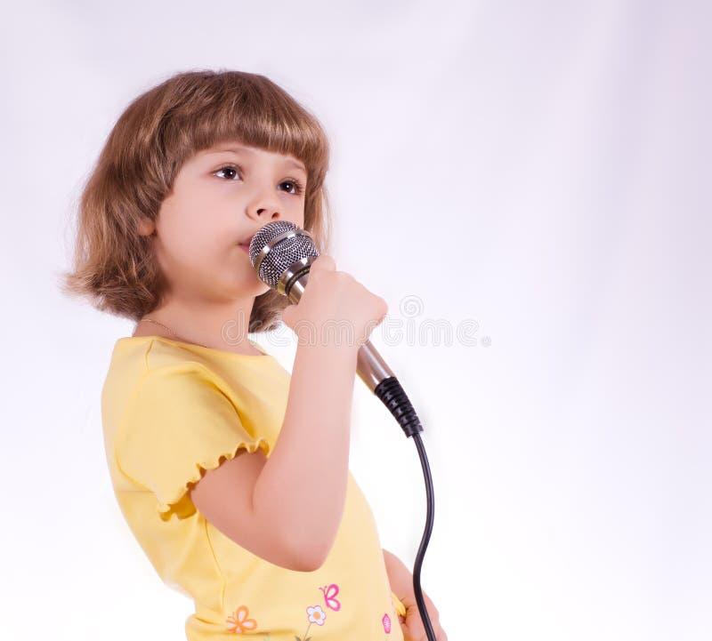 小歌唱家 库存照片