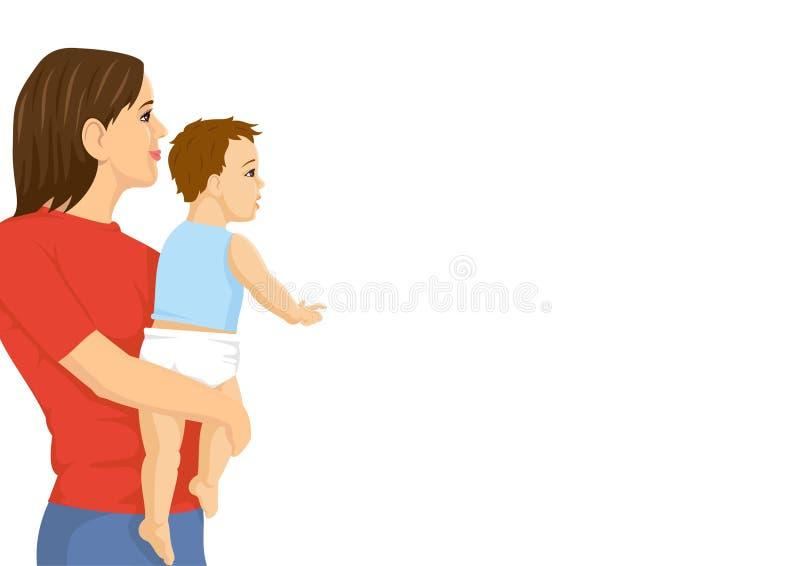 小母亲 向量例证