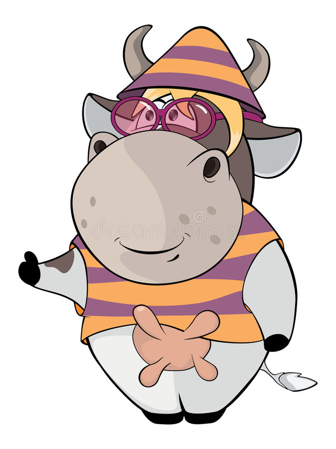 小母牛动画片 向量例证