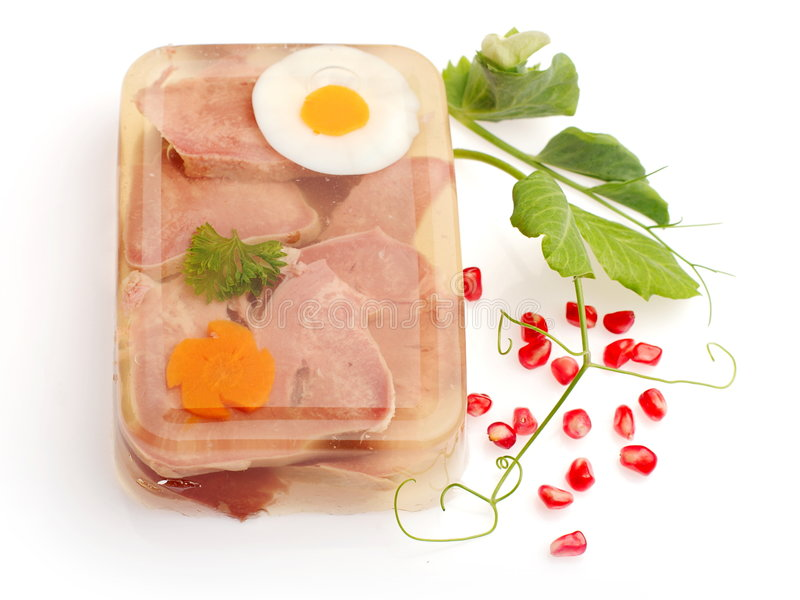 小毒蛇红萝卜装饰了蛋肉 库存照片