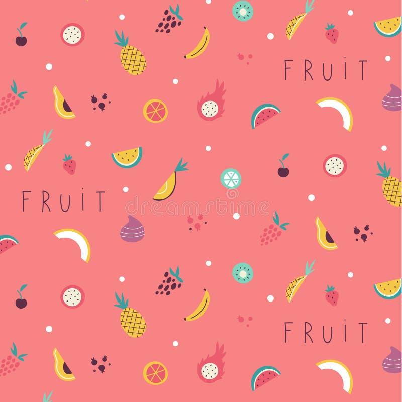 小水果和蔬菜象样式 库存照片
