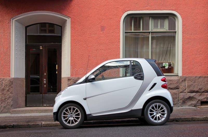 小汽车的城市 库存照片