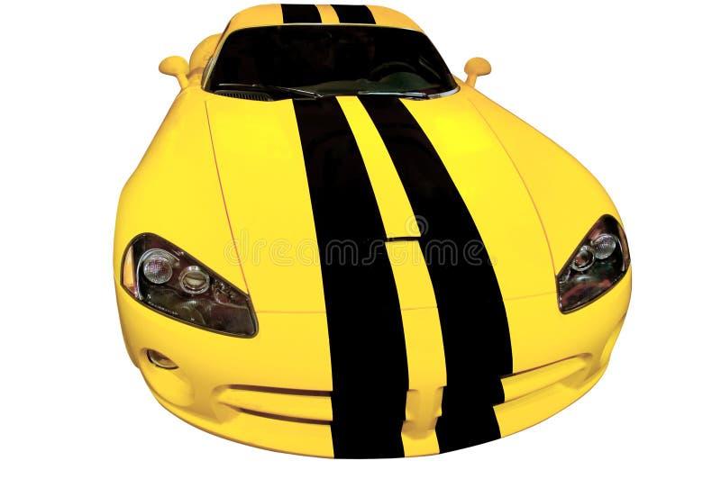 小汽车赛黄色 图库摄影