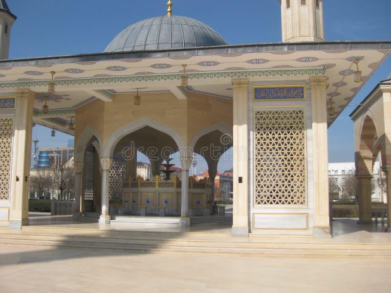 小沐浴的一个地方-巫毒教在车臣的清真寺心脏在格罗兹尼 免版税库存图片