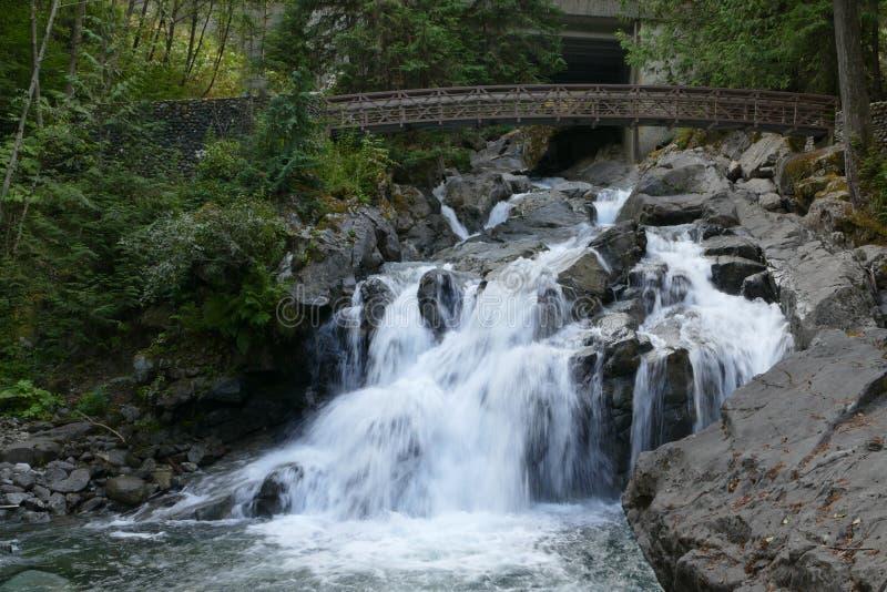 小河和瀑布 免版税库存图片