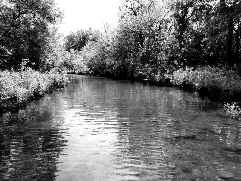 小河在世外桃源公园 免版税库存照片