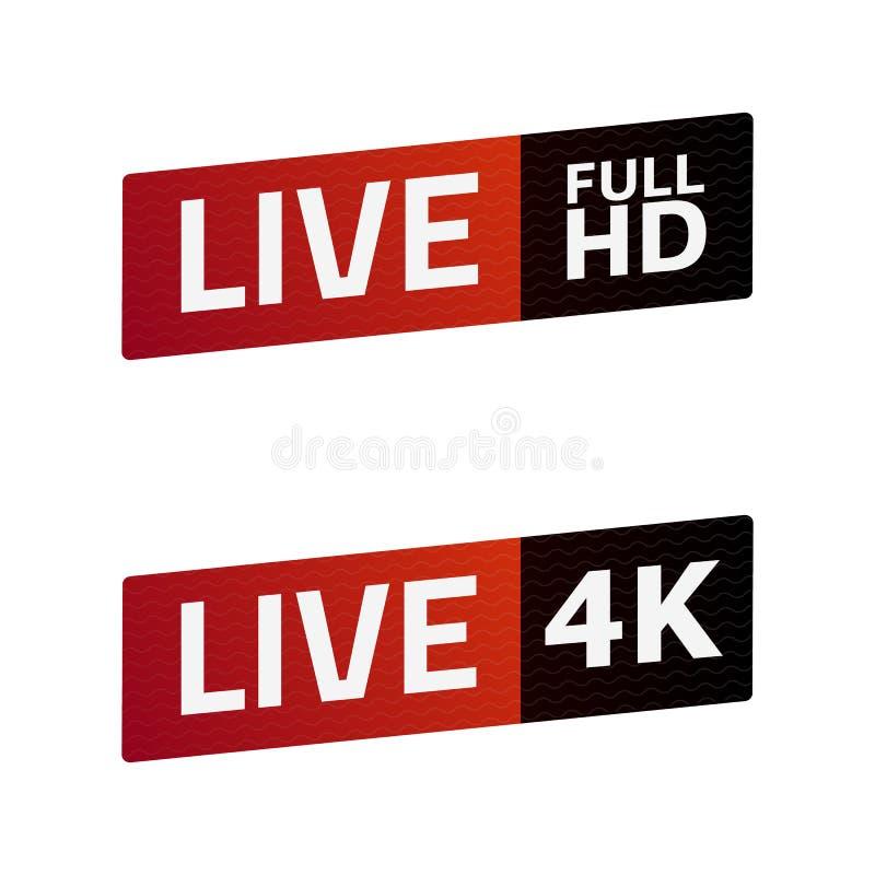 活小河标志集合 充分的HD, 4K 象征,商标 颜色梯度 皇族释放例证