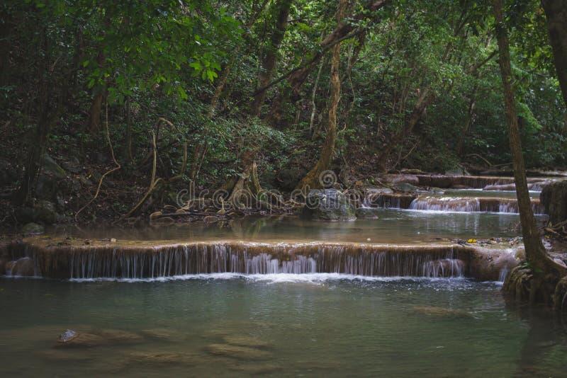 小河瀑布 免版税图库摄影