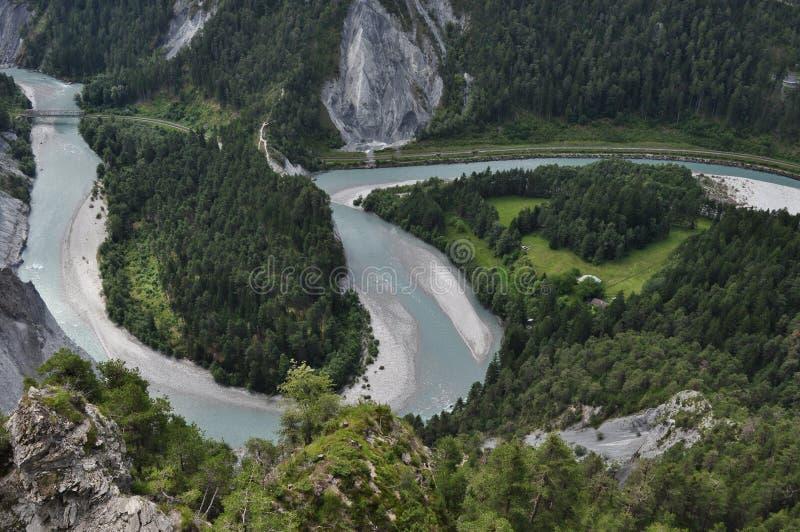 小河从上面 库存图片